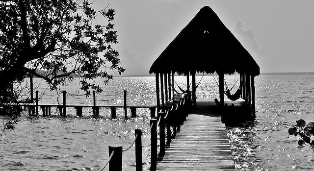 Mexico, die herrliche Laguna von Bacalar, ( Lagune der sieben Farben ) , 19849/12799