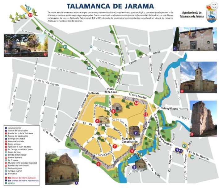 Mapa turístico de Talamanca del Jarama