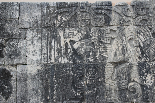 Carvings at The Ball Courts, Chichen Itza, Mexico's Yucatán Peninsula