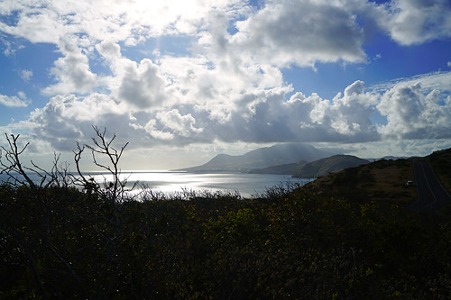 Stunning clouds over the hills, St Kitts