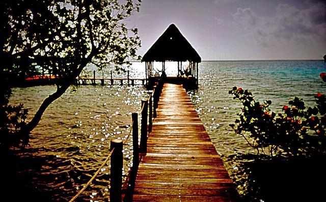Mexico, die herrliche Laguna von Bacalar, ( Lagune der sieben Farben ) , 19851/12801