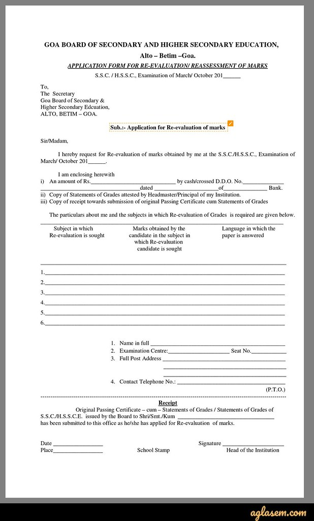 GBSHSE HSSC Revaluation 2020 Result - Form (Today), Apply at gbshse.org