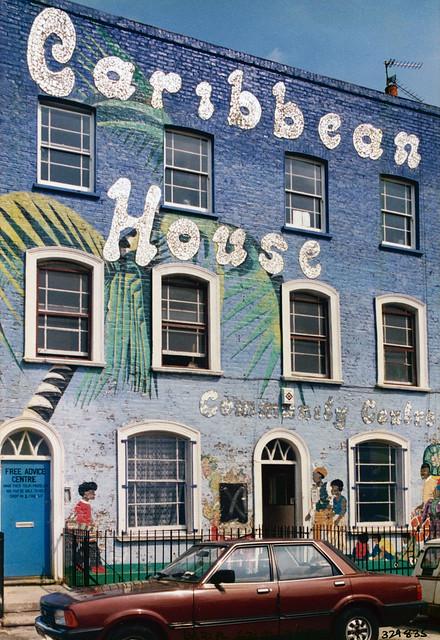 Mural, Caribbean House, Bridport Place, Hoxton, 1986 TQ3283-001