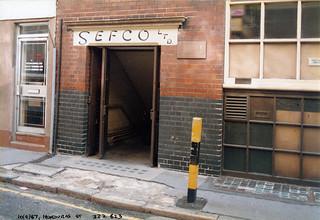 SEFCO Ltd, Honduras St, Old St  1986 TQ3282-004