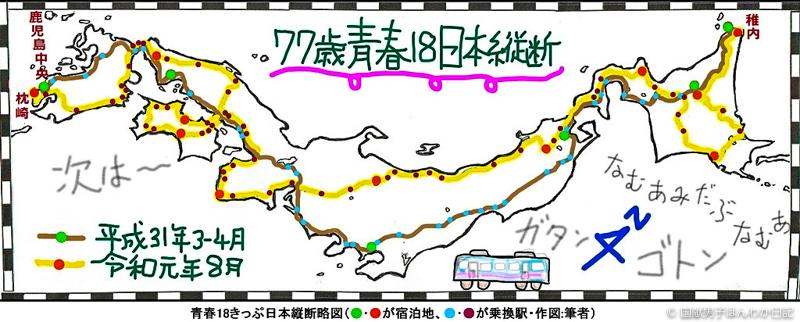 77歳青春18日本縦断の絵