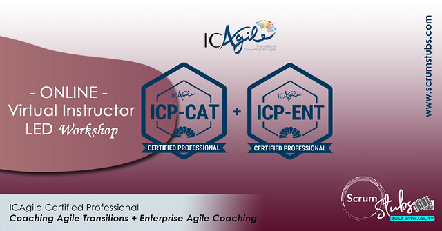 ICAgile Certified Professional-CAT and ENT | Virtual Instructor Led Workshop | Scrum Stubs |