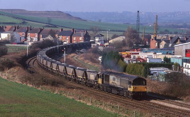 58003 At Pinxton. 17/03/1999.