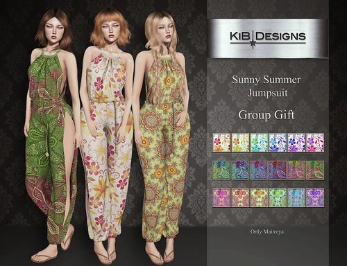 KiB Designs - Sunny Summer Jumpsuit Group Gift