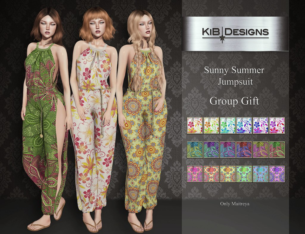 KiB Designs – Sunny Summer Jumpsuit Group Gift