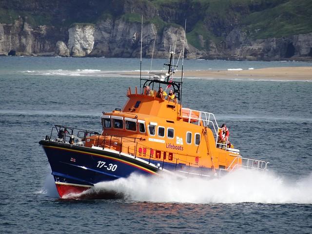 """RNLB """"William Gordon Burr"""", Portrush Severn-class Lifeboat (17-30), September 2016"""