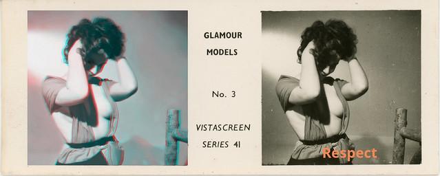 GLAMOUR MODELS  N°3  VITASCREEN  SERIE 41 c: 1950
