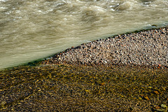"""Clear Stream enters into the """"Milky"""" Carbon River"""