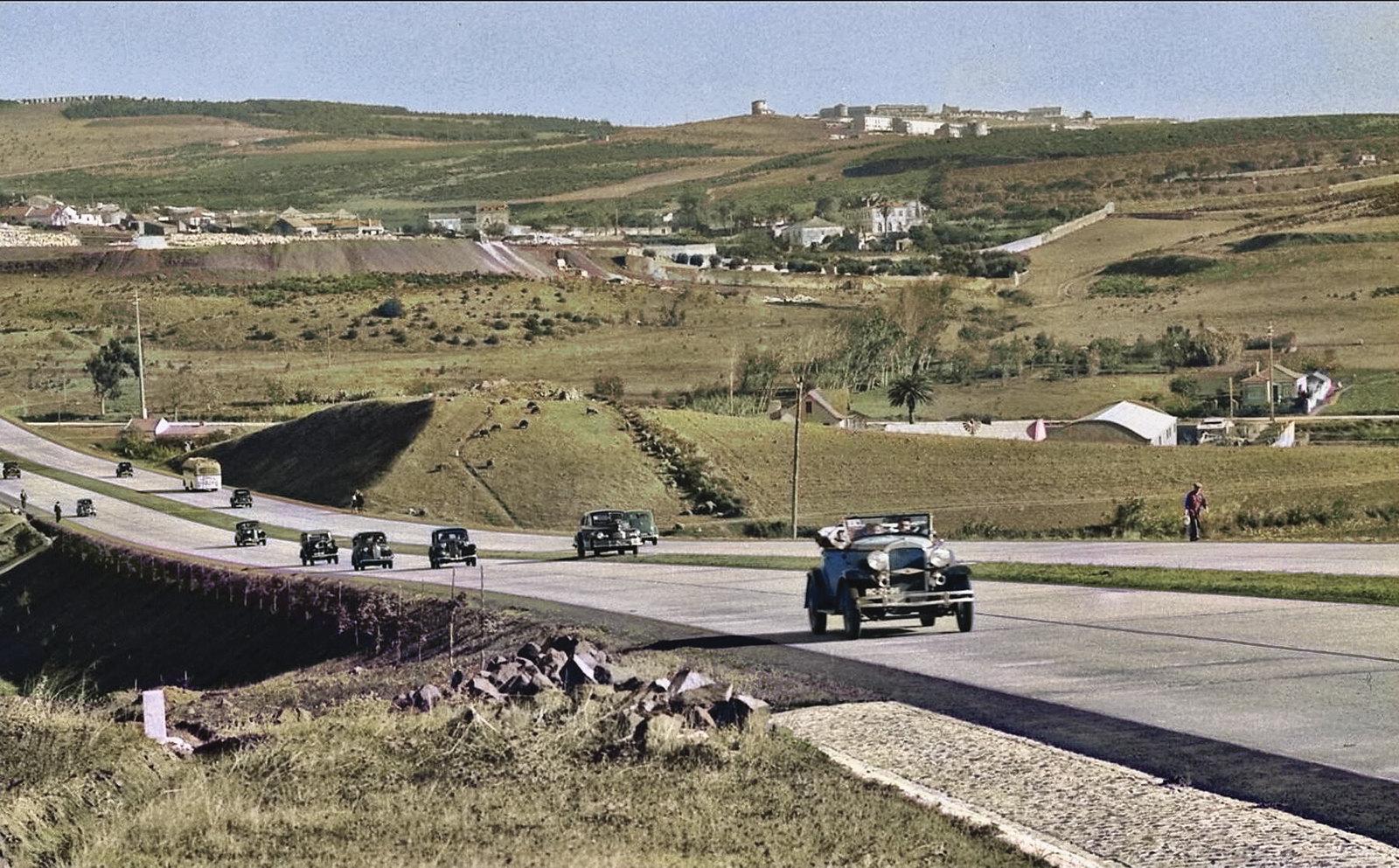 Auto-estrada do Estádio, Outurela (M. Novais, c. 1948)
