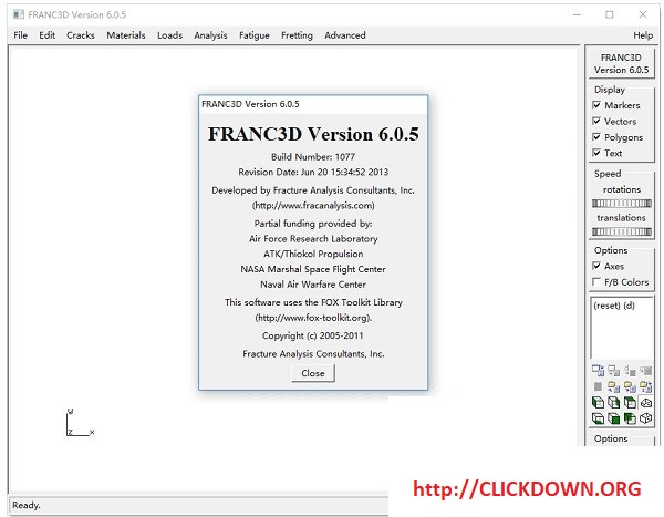 Working with Fracture Analysis FRANC3D 6.0.5 full license