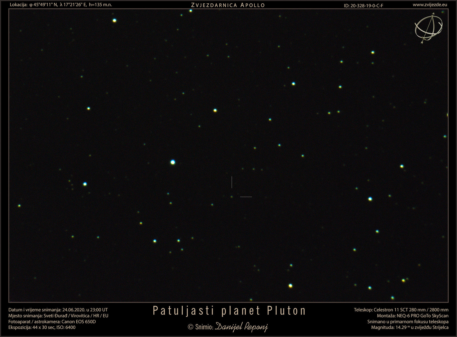 Patuljasti planet Pluton, 24.6.2020.