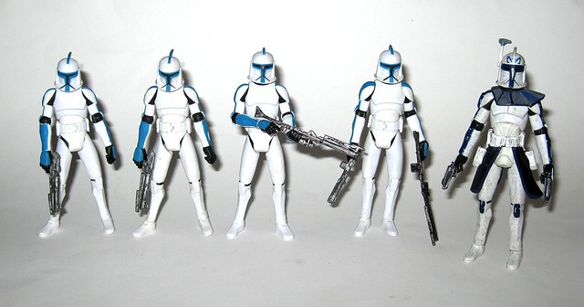 captain rex with 4 x 501st legion clone trooper star wars the clone wars basic action figures hasbro a