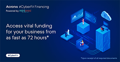 Acronis, a global leader in cyber protection, and Minterest, a leading Singapore-based online financial services solutions provider, have joined forces to launch Acronis #CyberFit Financing, Powered by Minterest to provide Singapore-based businesses with financing support.