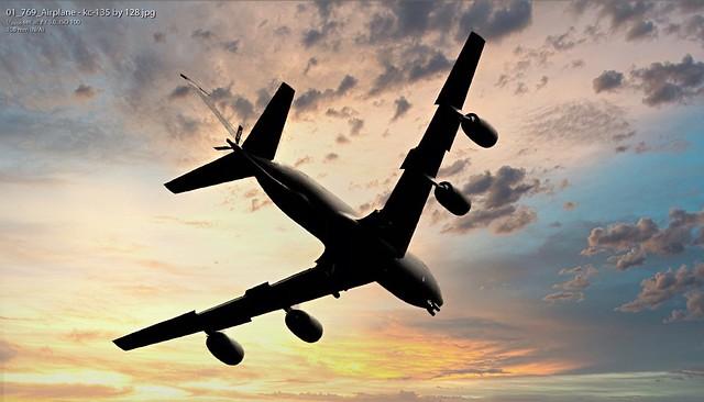 USAF KC-135 circling over our village