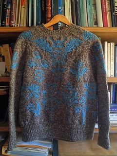 And a front of a finished Bouquet Sweater.