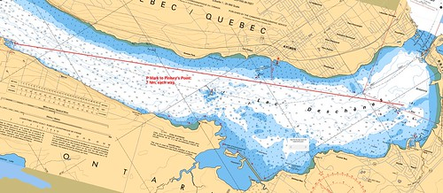 Pinhey's Point Course on Chart
