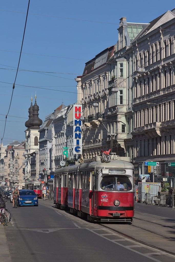 2017-06-26 AT Wien 08 Josefstadt & Wien 09 Alsergrund, Alser Straße, E1 4862+c4 Linie 43