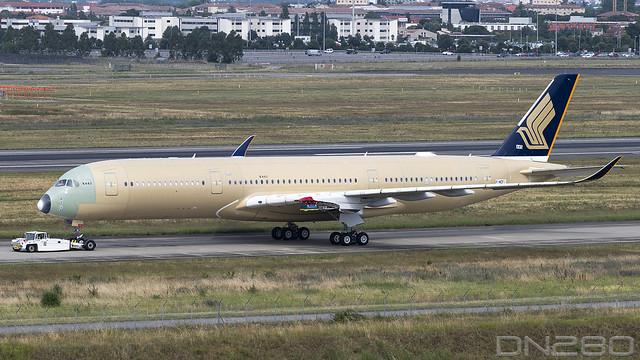 Singapore A350-941 msn 445 F-WZHI