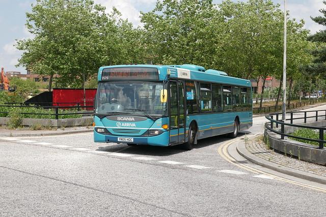 Arriva The Shires ex-Derby Scania CN94UB Omnicity 3579 YN05HGC in Milton Keynes