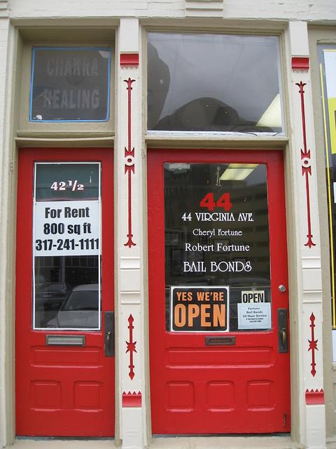 Indianapolis  Indiana  - 44 Virginia Ave -  Fortune Bail Bond  - Cast Iron  Facade -