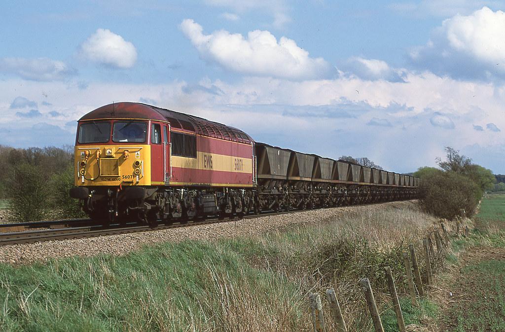 56071 on a MGR at Elsham Carss on 28 April 2001
