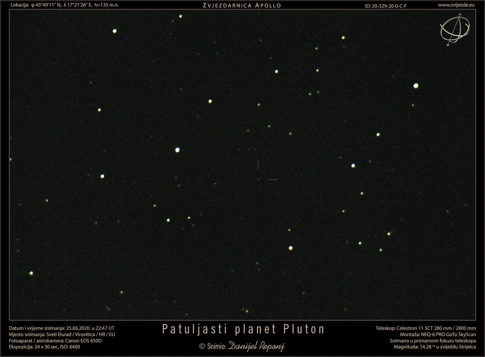 Patuljasti planet Pluton, 25.6.2020.