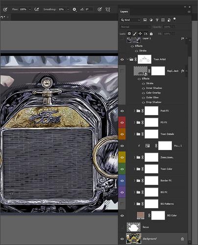 Screenshot of Toon Artist Photoshop Action