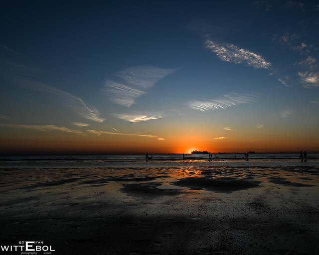 Sunset with noctilucent clouds