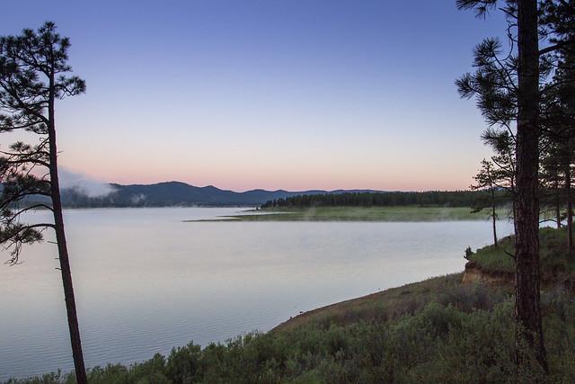 Phillips Lake at sunrise, Oregon