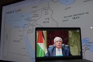 Minister for Foreign Affairs of State of Palestine Briefs Press | by United Nations Photo