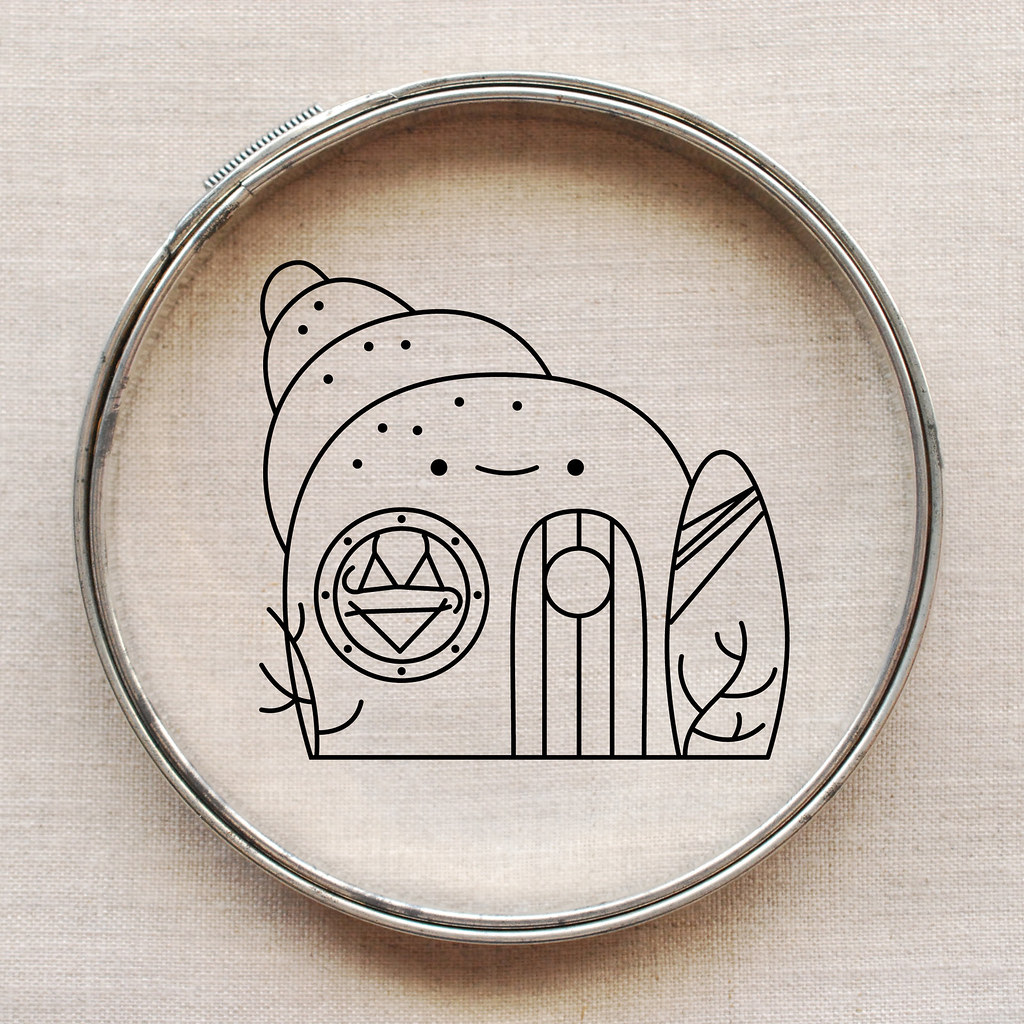 Beach Shop Embroidery Pattern