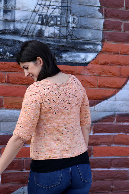 Cardiflower by Amy Gunderson is a free Knitty pattern that can be downloaded on Ravelry for top down yoke cardigan.