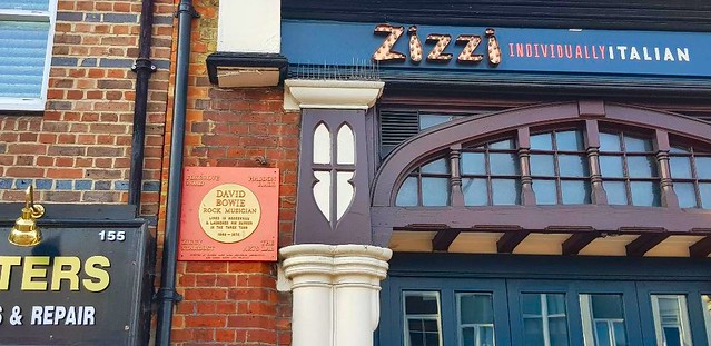 Bowie plaque, Three Tuns pub, Beckenham