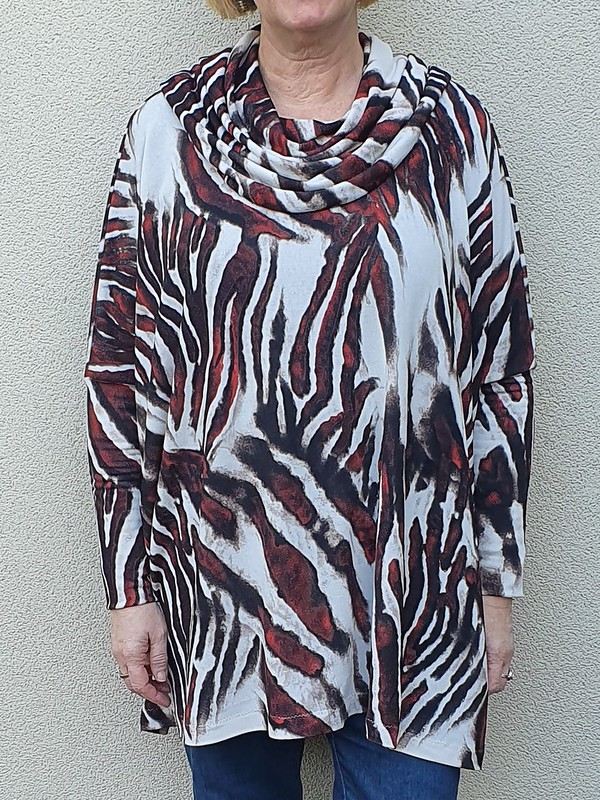 DIBY Club Mae poncho sweater in fabric from Super Cheap Fabrics