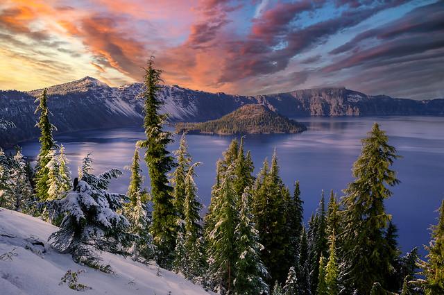 Crater Lake Surprise Snow