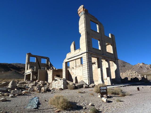 Ruins of John S. Cook & CO. Bank in Ghost Town Rhyolite
