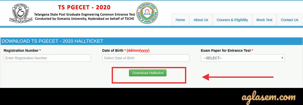 How to Download TS PGECET 2021 Hall Ticket
