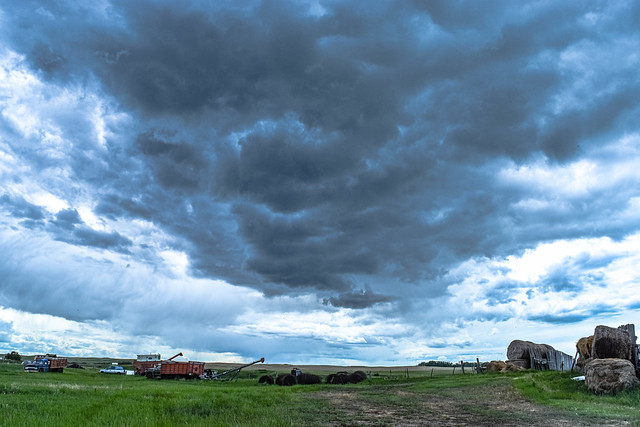 Storm covering the farm
