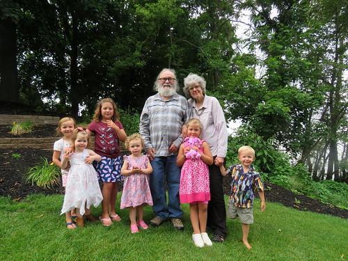 grandchildren with Noni & Papa