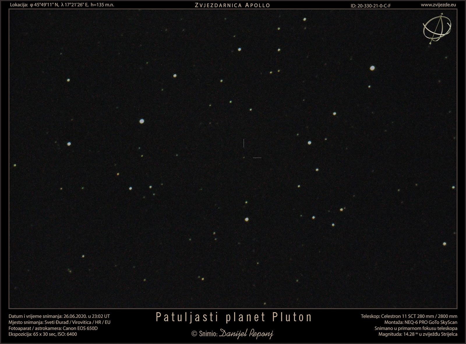 Patuljasti planet Pluton, 26.6.2020.