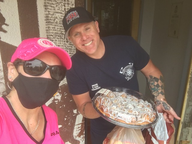 Councilor Borrego Delivers Snacks to First Responders