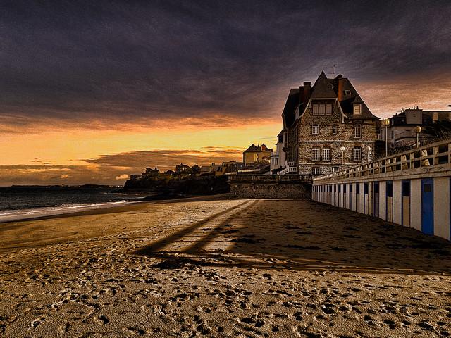 Dinard, Bretagne. La plage de St Enogat.