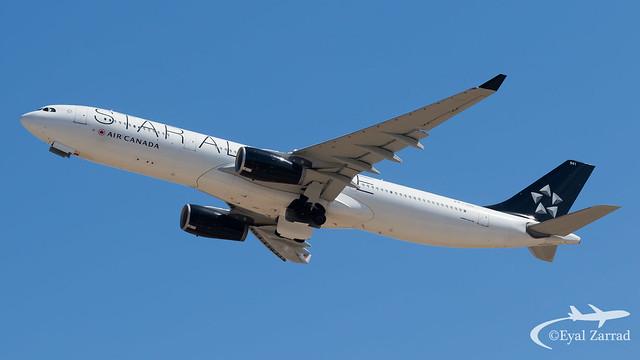 TLV - Air Canada Airbus A330-300 C-GEGI Start Alliance Livery