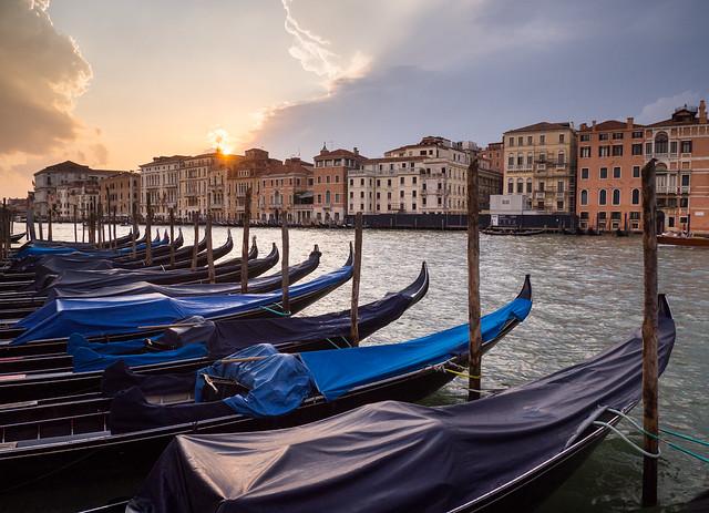 Gondola sundown