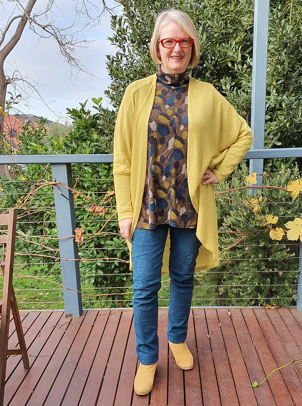 Style Arc Mavis tunic, Cassie pants and Pattern Emporium My Embrace cardigan