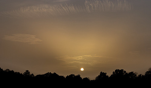 The Saharan dust cloud made for an interesting sunset on 6-26-2020. | by StephenGA